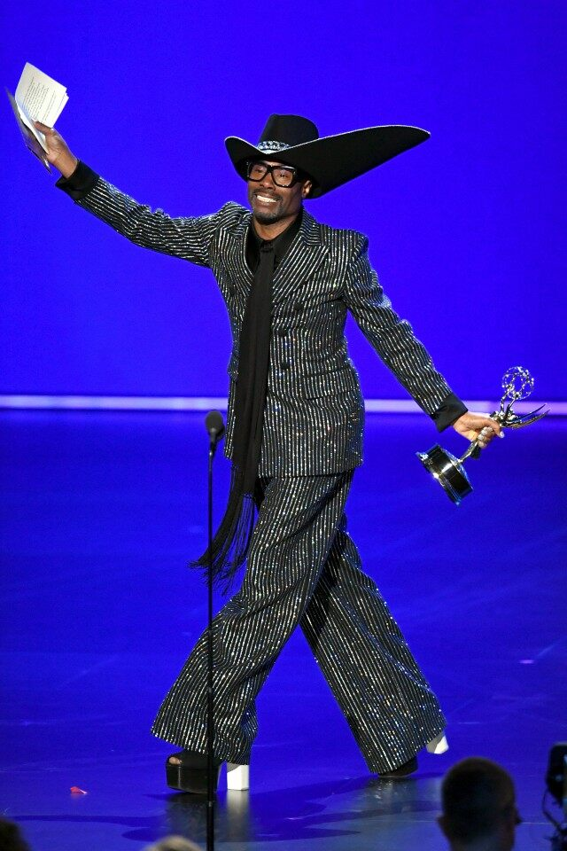 Billy Porter winner of 2019 Emmy Awards lead actor in drama series for Pose