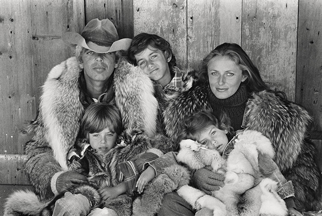 Ralph, David, Andrew, Dylan, and Ricky Lauren in Montauk, New York, in 1976: A perfect family moment captured by Bruce Weber