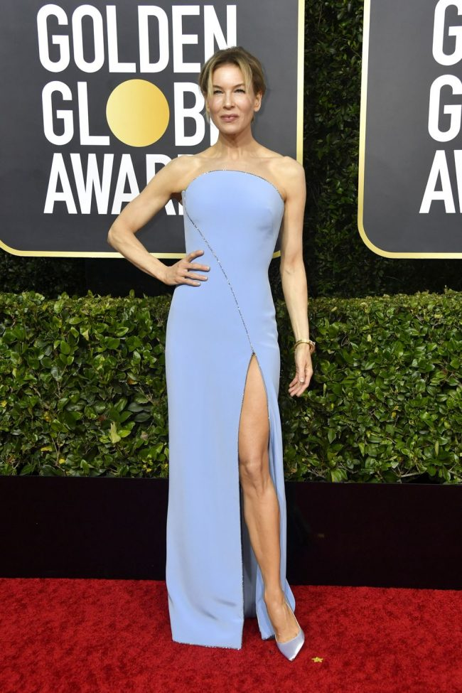 Renée Zellweger in Armani was form fitted to perfection 2020 Golden Globes