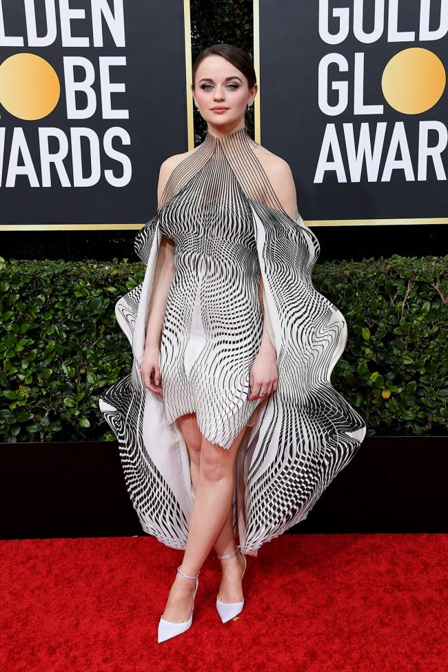 Joey King in Iris van Helpern at 2020 Golden Globes