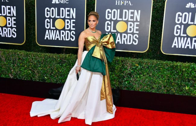 Jennifer Lopez at 2020 Golden Globes