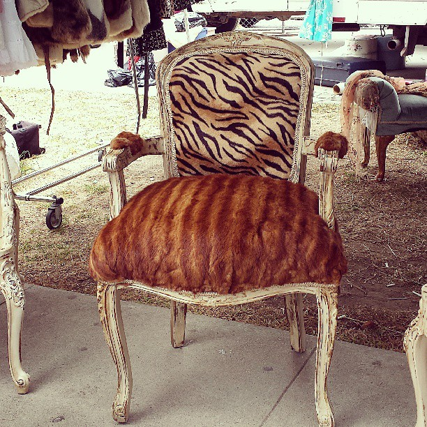 Stretch your creativity and think of turning one of your old, or preowned, mink coats into a lovely custom throne home decor