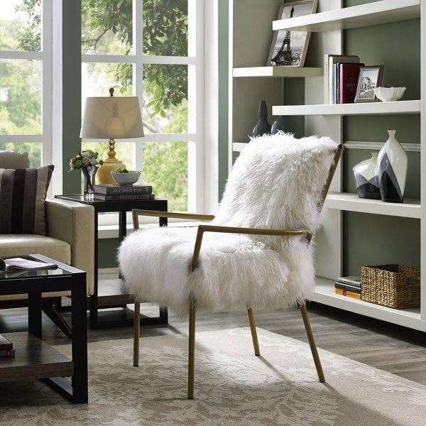Lena Sheepskin Chair by Tov Modern Furniture