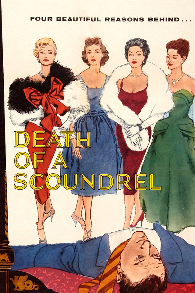 Death of a A Scoundrel Movie poster from 1956 furs on film