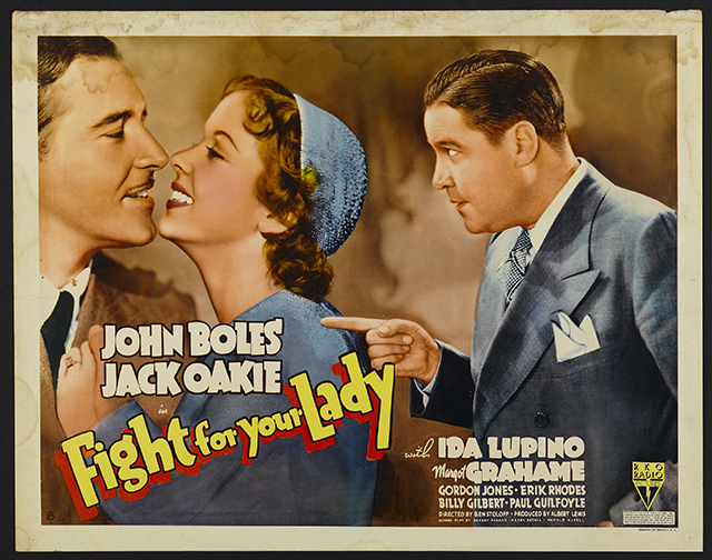 Movie poster from the film Fight for Your Lady furs on film